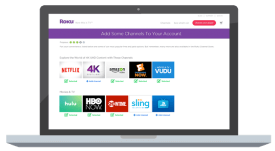 Computer with Roku apps